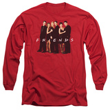 Long Sleeve: Friends - Cast In Black T-shirts