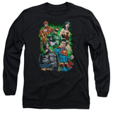 Long Sleeve: Justice League - Will Power T-Shirt