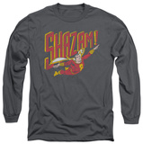 Long Sleeve: Shazam! - Retro Marvel T-Shirt