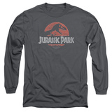 Long Sleeve: Jurassic Park - Faded Logo T-Shirt
