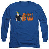 Long Sleeve: Johnny Bravo - Johnny Logo T-shirts