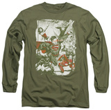 Long Sleeve: Justice League - Green And Red Long Sleeves