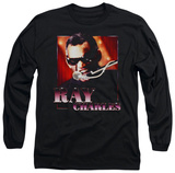 Long Sleeve: Ray Charles - Sing It T-Shirt