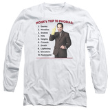 Long Sleeve: Monk - Top 10 Phobias T-shirts