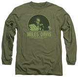 Long Sleeve: Miles Davis - The Green Miles T-Shirt