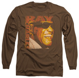 Long Sleeve: Ray Charles - Singing Distressed T-shirts