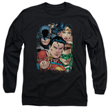 Long Sleeve: Justice League - Up Close And Personal T-shirts