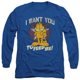 Long Sleeve: Garfield - I Want You T-shirts