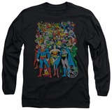Long Sleeve: Justice League - Original Universe T-Shirt