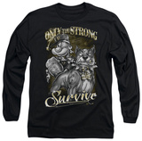 Long Sleeve: Popeye - Only The Strong T-Shirt