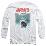 Long Sleeve: Jaws - Vintage Poster T-shirts