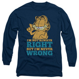 Long Sleeve: Garfield - Never Wrong T-Shirt