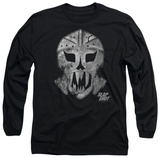 Long Sleeve: Slap Shot - Goalie Mask T-Shirt
