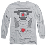Long Sleeve: Justice League - Cyborg Costume Tee Shirts