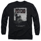 Long Sleeve: Psycho - House Poster T-Shirt