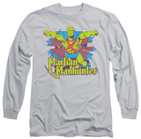 Long Sleeve: Martian Manhunter - Manhunter Stars Shirts