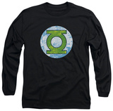 Long Sleeve: Green Lantern - Neon Distress Logo Shirt