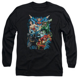 Long Sleeve: Justice League - JLA Assemble Shirt