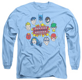 Long Sleeve: Justice League - Justice Head Circle T-shirts