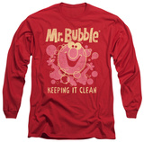 Long Sleeve: Mr Bubble - Keeping It Clean Shirt