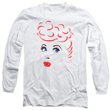 Long Sleeve: I Love Lucy - Lines Face Shirt
