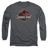 Long Sleeve: Jurassic Park - Stone Logo T-Shirt