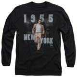 Long Sleeve: James Dean - New York 1955 T-shirts