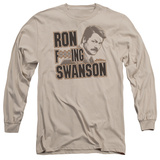 Long Sleeve: Parks & Recreation - Ron F***Ing Swanson Shirts