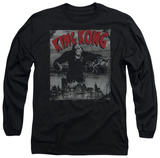 Long Sleeve: King Kong - City Poster T-shirts