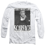 Long Sleeve: Scarface - Business Face T-Shirt