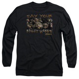 Long Sleeve: Labyrinth - Say Your Right Words T-shirts