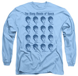 Long Sleeve: Star Trek - Many Moods Of Spock T-shirts