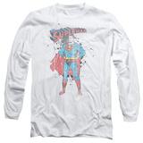 Long Sleeve: Superman - Vintage Ink Splatter Long Sleeves