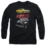 Long Sleeve: The Fast And The Furious - Muscle Car Splatter T-shirts