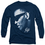 Long Sleeve: Ray Charles - Blue Ray T-Shirt