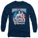Long Sleeve: Wonder Woman - American Heroine T-Shirt