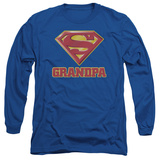 Long Sleeve: Superman - Super Grandpa T-Shirt