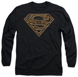 Long Sleeve: Superman - Aztec Shield Long Sleeves