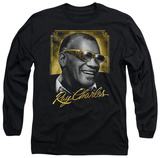 Long Sleeve: Ray Charles - Golden Glasses T-shirts