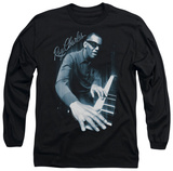 Long Sleeve: Ray Charles - Blues Piano T-Shirt
