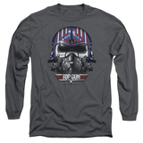 Long Sleeve: Top Gun - Maverick Helmet T-Shirt