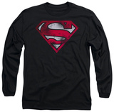 Long Sleeve: Superman - War Torn Shield Shirts