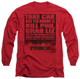Long Sleeve: Shaun Of The Dead - List T-Shirt
