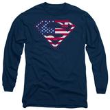 Long Sleeve: Superman - US Shield Long Sleeves
