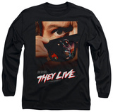 Long Sleeve: They Live - Poster T-Shirt