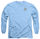 Long Sleeve: Star Trek - Science Uniform Shirt