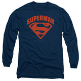 Long Sleeve: Superman - Super Shield Shirts