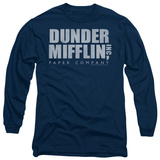 Long Sleeve: The Office - Dunder Mifflin Distressed Shirts