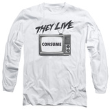 Long Sleeve: They Live - Consume T-Shirt