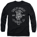 Long Sleeve: Sons Of Anarchy - Fabric Paint T-Shirt